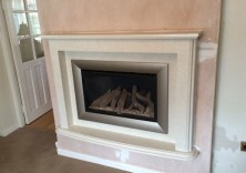 Bespoke Design Floating Fireplace with Gas Fire