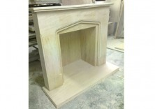 Bespoke Fireplace in Limestone for a Stove