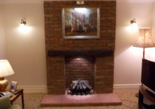 Brick Chimney Breast with Opti Myst Fire