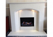 Florida in Nacarado Marble with Opti Myst Fire