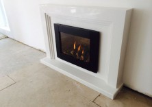 The Maddison in Polare White with Synergy Fire