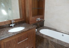 Emprador Marron Granite Bathroom
