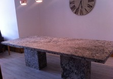 Lennon Leathered Granite Dining Table