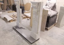 Repaired and Rebuilt Marble Fireplace