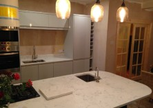 Angelo White quartz worktops