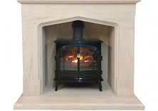 The Barcelona inglenook with Burgate Opti-Myst stove