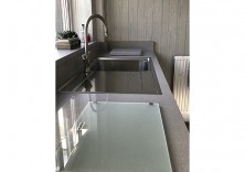 30mm Silestone Alumino Nube quartz worktops