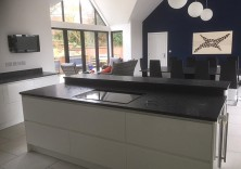 30mm Steel Grey water brushed granite worktops and dining table