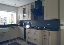 30mm Steel Grey Water Brushed granite worktops